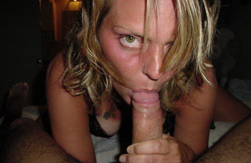 Hot Brunette Sucking Cock
